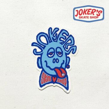 ジョーカーズスケートショップ/JORKER'S SKATE SHOP/オリジナルステッカー【jss011-white】