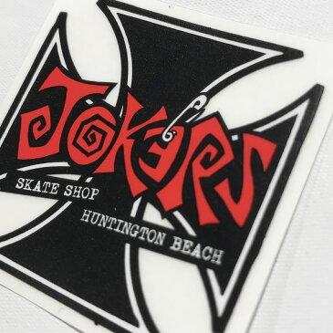 ジョーカーズスケートショップ/JORKER'S SKATE SHOP/オリジナルステッカー【jss012-white】