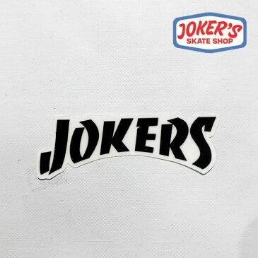 ジョーカーズスケートショップ/JORKER'S SKATE SHOP/オリジナルステッカー/ミディアム【jss014-white】