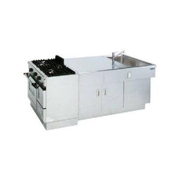 マルゼン 調理実習台 MJW-S229 LPガス仕様 W2700×D900×H850 生徒用 学生用