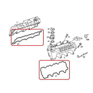 VictorReinz製ベンツM112V6エンジン用シリンダーヘッドカバーガスケット/タペットカバーパッキン11201602211120160321713410700713410800【あす楽対応_関東】