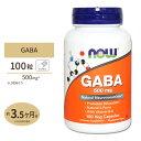 [送料無料]ギャバ(GABA) + ビタミンB6 500mg 100粒 NOW Foods(ナウフーズ) その1