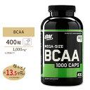 [正規代理店]BCAA 1000mg 400粒 Optimum Nutrition (オプティマムニュートリション)サプリメント サプリ トレーニング 回復 持久力 筋肉 スポーツ ダイエット