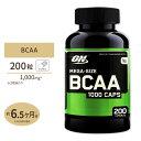 【送料無料】BCAA メガサイズ 1000mg 200粒 Optimum Nutrition(オプテ...