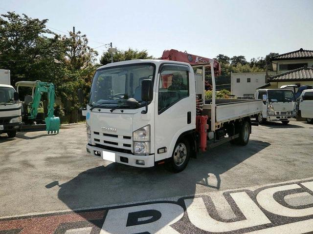 エルフトラック 2.7t標準ロング ユニック製4段クレーン 2.63t吊り(いすゞ)【中古】