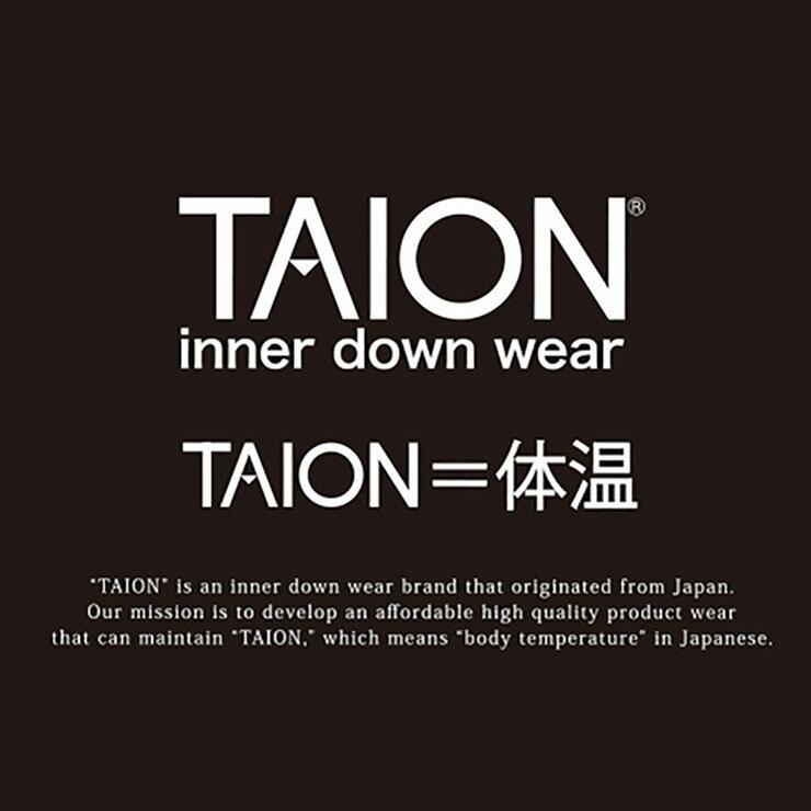 タイオン『メンズVネックボタンインナーダウンベスト(TAION-001)』