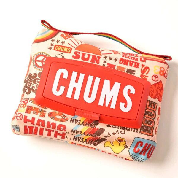CHUMSチャムスウエットティッシュケースCH62-1496キャンプアウトドア