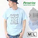 ペレグリンデザインファクトリー Peregrine Design Factory Yes We Camp! Tシャツ INDIAN メンズ Tシャツ M/Lサイズ グレー/ブルー