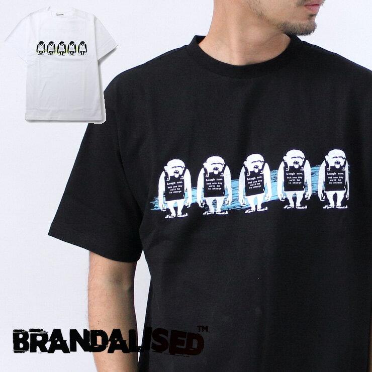 トップス, Tシャツ・カットソー  Banksy t t BRANDALISED Monkey Laugh Now Blue T