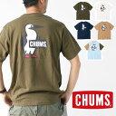 アウトドアブランド tシャツ チャムス Tシャツ メンズ バックプリント CHUMS ブービーロゴ