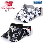 NEW BALANCE ニューバランス フォトモンタージュプリント ツイル バイザー 012-9187022