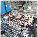 【送料無料・即日発送】JB23 ジムニー(9〜10型専用) ステンレス製 エンジンルーム補強フロントバー 補強 強化 クロカン 本格 タワーバー