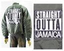 ALPHA PLUS アルフアプラス ビックサイズ対応 BOXロゴ NWA JAMAICA MA1 中綿ジャケット メンズ 【51JK03 NWA JAMAICA MA1】