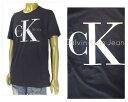CALVIN KLEIN カルバンクライン jeans ブランド ビックロゴ クラシックロゴ プリント クルーネック Tシャツ メンズ 【41QK961 トゥルー】