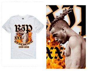 XXXTENTACION エクスエクスエクステンタシオン YouTube自らの葬儀をモチーフにした人気曲「SAD!」MVが公開 全米シングルチャートBillboard Hot100 1位を獲得 追悼 Tシャツ メンズ 【20180618ツイトウ】