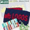 LOGOSジャカードスポーツタオル綿100%ロゴス《約34cm×110cm》