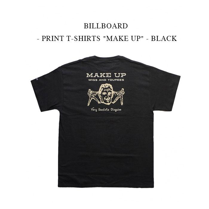 トップス, Tシャツ・カットソー 30OFFBILLBOARD - PRINT T-SHIRTS MAKE UP - BLACK T