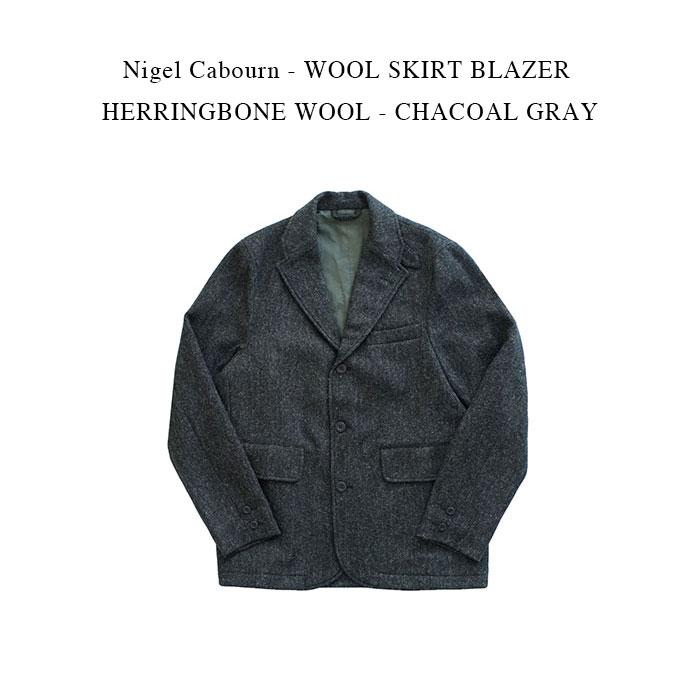 メンズファッション, コート・ジャケット Nigel Cabourn - WOOL SKIRT BLAZER HERRINGBONE WOOL - CHACOAL GRAY