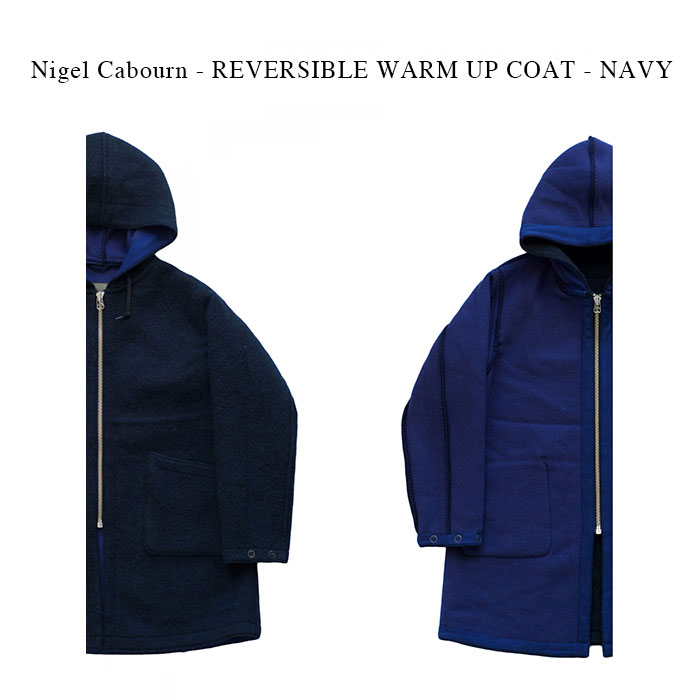 メンズファッション, コート・ジャケット Nigel Cabourn - REVERSIBLE WARM UP COAT - NAVY