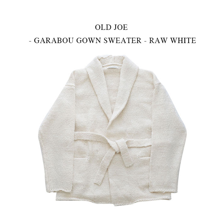 トップス, ニット・セーター OLD JOE - GARABOU GOWN SWEATER - RAW WHITE UNISEX