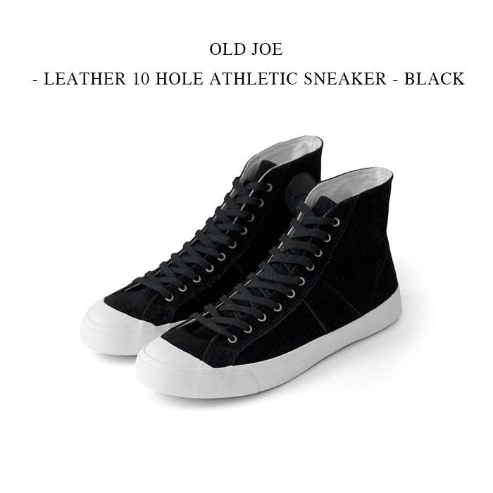 メンズ靴, スニーカー OLD JOE - LEATHER 10 HOLE ATHLETIC SNEAKER - BLACK 10
