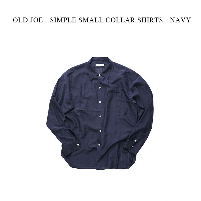 トップス, カジュアルシャツ OLD JOE - SIMPLE SMALL COLLAR SHIRTS - NAVY