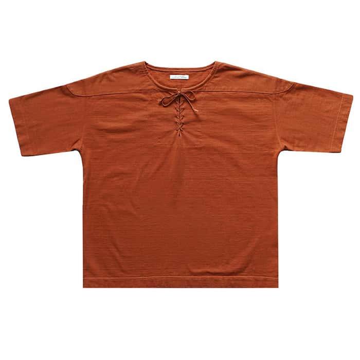 トップス, Tシャツ・カットソー 30OFFOLD JOE - LACED FRONT RUGGER SHIRTS - COPPER