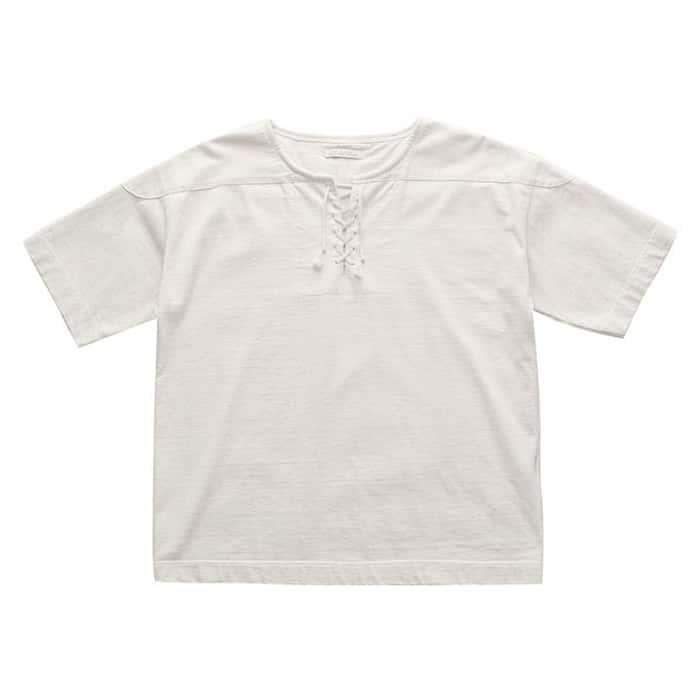 トップス, Tシャツ・カットソー 30OFFOLD JOE - EXCLUSIVE LACED FRONT RUGGER SHIRTS - BONE