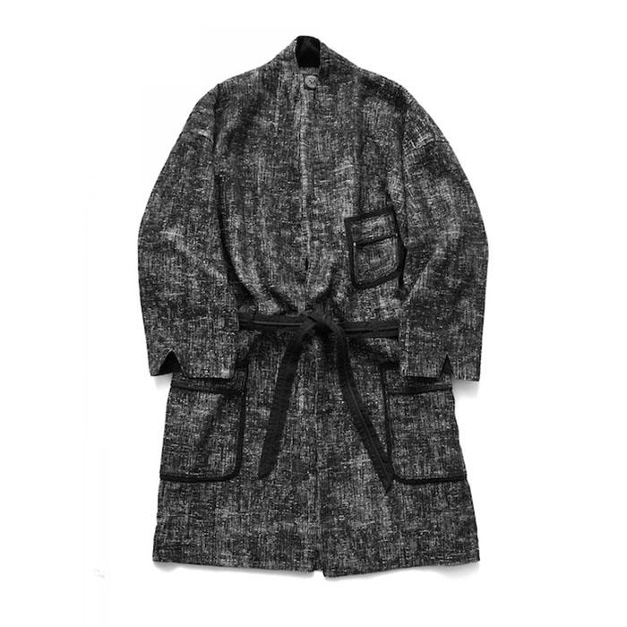 トップス, カジュアルシャツ Porter Classic - PEELED CLOTH GOWN COAT - BLACK