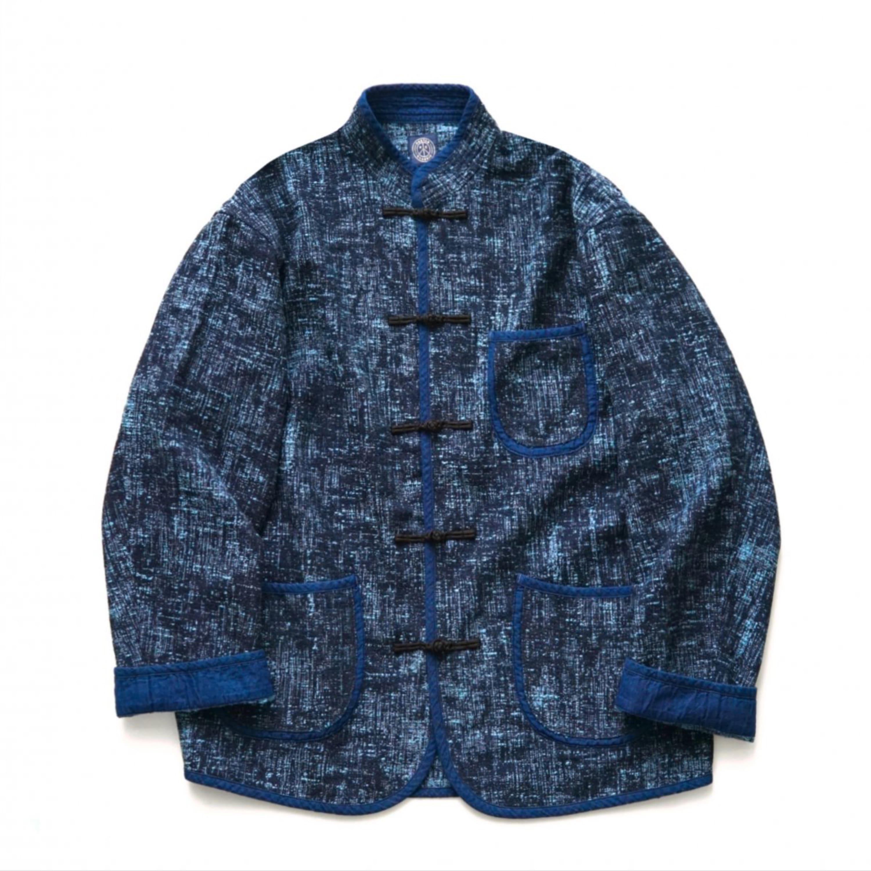 メンズファッション, コート・ジャケット Porter Classic - PEELED CLOTH CHINESE JACKET - BLUE