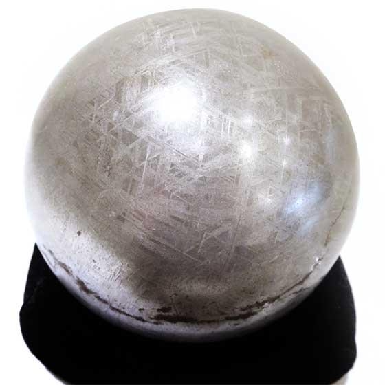 特大 ギベオン 隕石 118mm 球体 ナミビア (アイアン・メテオライト鑑別書付) メール便不可