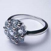 ブルートパーズ リング02 9号 (天然石 パワーストーン アクセサリー 指輪 シルバー フラワー お花) メール便不可