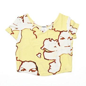 未使用保管品 シャネル CHANEL ラッシュガード ココマーク V 半袖Tシャツ イエロー P1592 【中古】