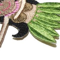 ワッペンアップリケ【メール便OK】当店人気No.1モアナちゃん10色展開★プアプアモアナップルオリジナル★ハワイアンハワイ雑貨アイロン入園入学マーク目印フラ刺繍ししゅうシンプルかわいい女の子大人おしゃれ