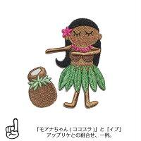 ワッペン/アップリケ/おしゃれ/ハワイ/大人/女の子/かわいい/ハワイアン/イプ/イプヘケ/楽器/フラ