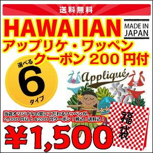 ポイント ハワイアン ワッペン クーポン パケット プアプアモアナップル オリジナル アイロン