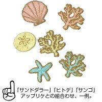 ワッペン/アップリケ/おしゃれ/ハワイ/大人/女の子/かわいい/ハワイアン/珊瑚/サンゴ//シェル/パステル