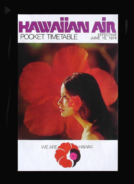 ハワイアンポスター アート ハワイアンエアライン 赤い ハイビスカス 女性ハワイ 雑貨 ハワイアン雑貨 ハワイアン インテリア アメリカン雑貨 ハワイポスター ポスター ポイント消化