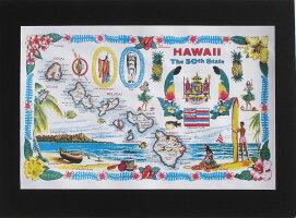 ハワイアンポスター/ハワイポスター/ポスター/インテリア/アート/ハワイ/ハワイアン/ハワイ雑貨/ハワイアン雑貨/おしゃれ/絵/地図
