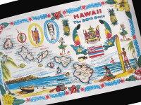 【デザイン250以上】ハワイアンポスター/1959年ハワイ州誕生記念マップ(地図)(ハワイ雑貨/ハワイアン雑貨/ハワイアンインテリア/アメリカン雑貨/ハワイアンポスター/ハワイポスター/ポスター)【ポイント最大30倍9/519:00-9/101:59】
