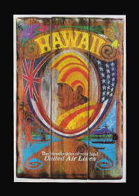 ハワイアンポスター/ハワイポスター/ポスター/インテリア/アート/ハワイ/ハワイアン/ハワイ雑貨/ハワイアン雑貨/おしゃれ/絵/航空会社
