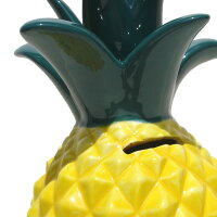 ハワイアン雑貨ハワイ雑貨【パイナップル貯金箱】ハワイハワイアンハワイアンインテリアフルーツ貯金箱おしゃれ子供大きめ陶器セラミック