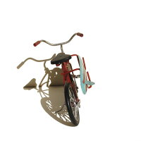 サーフ/バイセクル/自転車/置き物/ハワイアン雑貨/ハワイ雑貨/ハワイアン/インテリア/ミニチュア/西海岸/アメリカン雑貨/おしゃれ/サーフィン/サーファー/ブリキ/大人