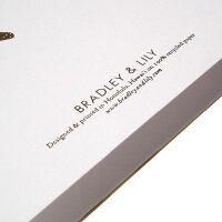ハワイアン雑貨/ハワイ雑貨/ハワイ/ハワイアン/グリーティング/カード/ブラッドリー&リリー/BLADLEY&LILY/金/白/おしゃれ