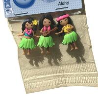 ボタン/手芸/ボタンセット/かわいい/おしゃれ/ハワイ/ハワイアン/アメリカ/海外/フラガール/女の子/ハワイアン雑貨/入学/入園/目印