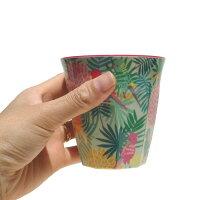ハワイアン雑貨ハワイ雑貨【プリントメラミンカップ】ハワイハワイアンパーティー用品riceホームパーティーコップ子供用おしゃれかわいいデンマークトロピカルフルーツ鉛筆立て