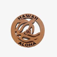 ハワイアン雑貨/ハワイ雑貨【ゆうパケットOK】【木製なべ式/ホヌ(カメ)】(ハワイ/ハワイアン/鍋式/トリヴェット/ウッドコースター/木製コースター/ハワイアンインテリア)【05P07Nov15】