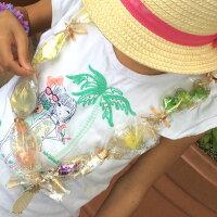 ハワイアン雑貨ハワイ雑貨【ゆうパケットで、送料160円】【キャンディーレイキット5セット入】ハワイハワイアンセロファンバッグラッピングハワイラッピングレイキットお祝いLeiレイハワイ土産