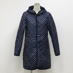 THE SMOCK SHOP(スモックショップ)DOT PRINT POLYESTER AIR QUILT HOODED COA...