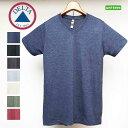 無地VネックTシャツ DELTA APPAREL /デルタ アパレル トライブレンド[PLATINUM]シリーズ602 霜降り 無地Tシャツ 霜降り